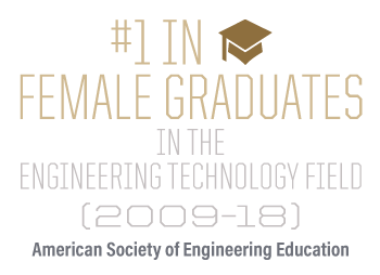 #1 in female graduates in the Engineering Technology field (2009-18)